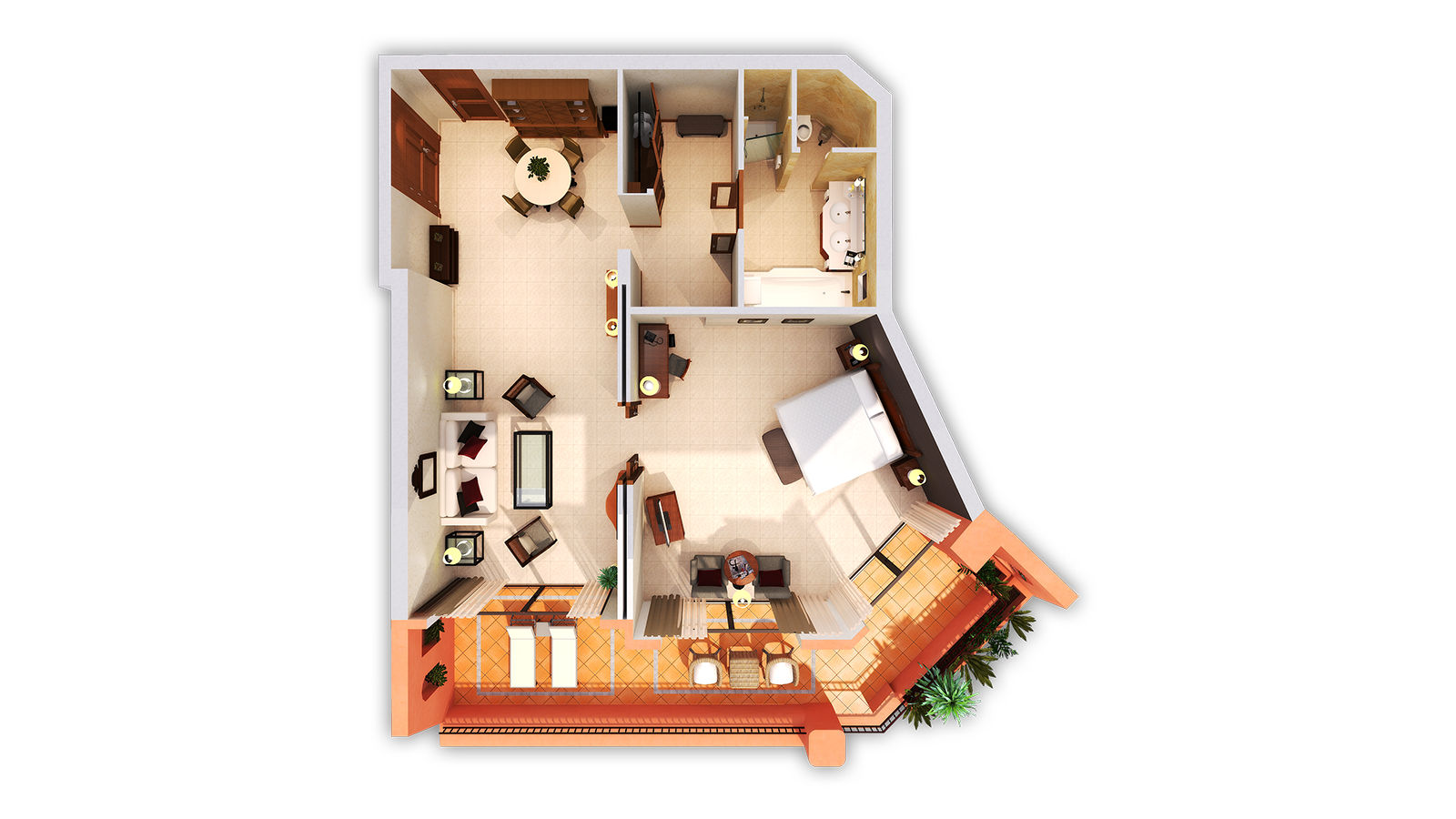 PREMIUM SUITE 3D FLOOR PLAN
